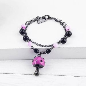 Purple Mushroom Double Layer Bracelet